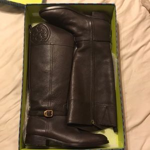 Excellent TORY BURCH BOOTS SZ 11 Marlene Leather